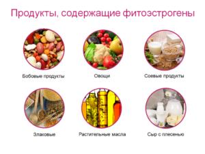 Продукты содержащие эстрогены для женщин при климаксе
