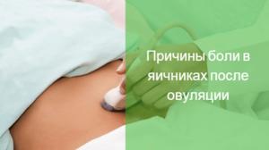 Болит яичник правый после овуляции