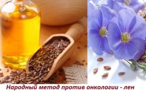 Льняное масло при раке молочной железы