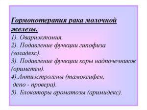 Гормонотерапия при раке молочной железы препараты