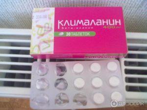 Французский препарат от климакса клималанин