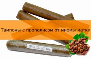 Лечение миомы прополисом